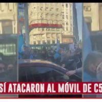 Gremio de prensa repudió el ataque al móvil de C5N
