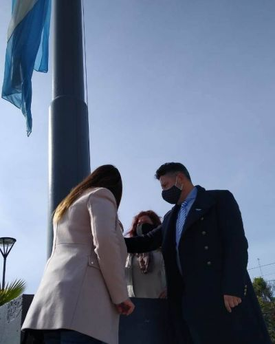 Menéndez celebró el Día de la Independencia y habló de las obras que vienen para Merlo