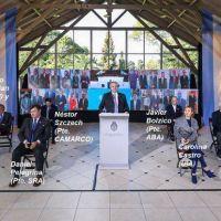 Quiénes son los empresarios y sindicalistas que acompañaron a Alberto en el acto por el Día de la Independencia
