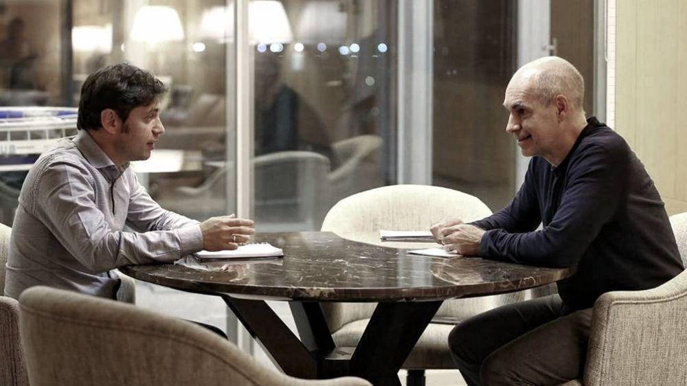 Kicillof y Rodríguez Larreta se reúnen para evaluar la situación en el AMBA