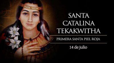 Hoy celebramos a Catalina (Kateri) Tekakwitha, la primera santa piel roja
