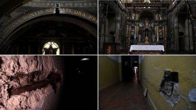 El grito de auxilio de un párroco de Montserrat: contrajo COVID, y su Iglesia, monumento histórico, se cae a pedazos