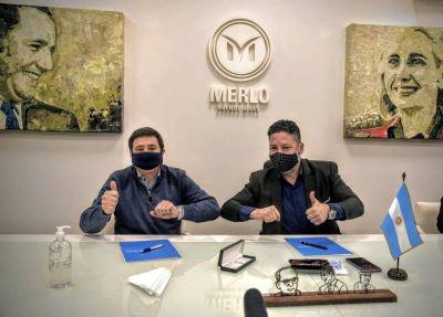 Merlo: Menéndez y Arroyo firmaron convenio de asistencia alimentaria