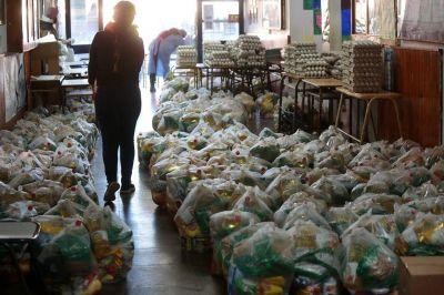 El Municipio de Brown ya repartió 3 mil toneladas de alimentos en escuelas