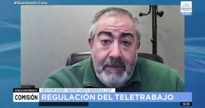 Teletrabajo: Daer se cruzó Gladys González y le recordó que