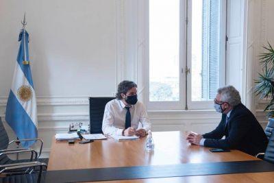 Julio Zamora se reunió con Santiago Cafiero