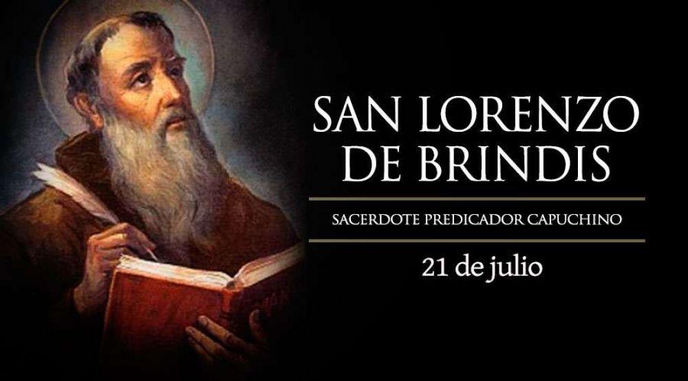 Hoy es fiesta de San Lorenzo de Brindis, enérgico capuchino predicador