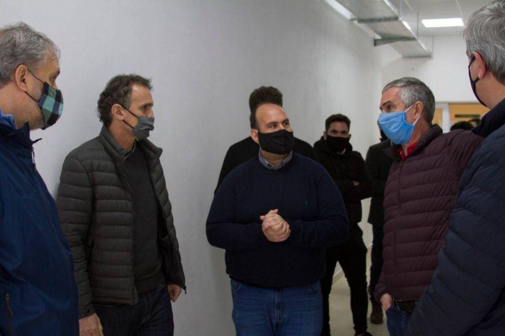 Katopodis visitó Baradero y firmó un convenio con Sanzio por obras