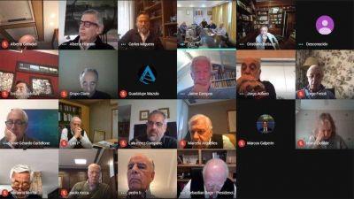 Los empresarios más importantes del país dialogaron con sindicalistas en una inédita reunión virtual
