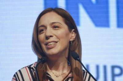 María Eugenia Vidal en el Zoom de la