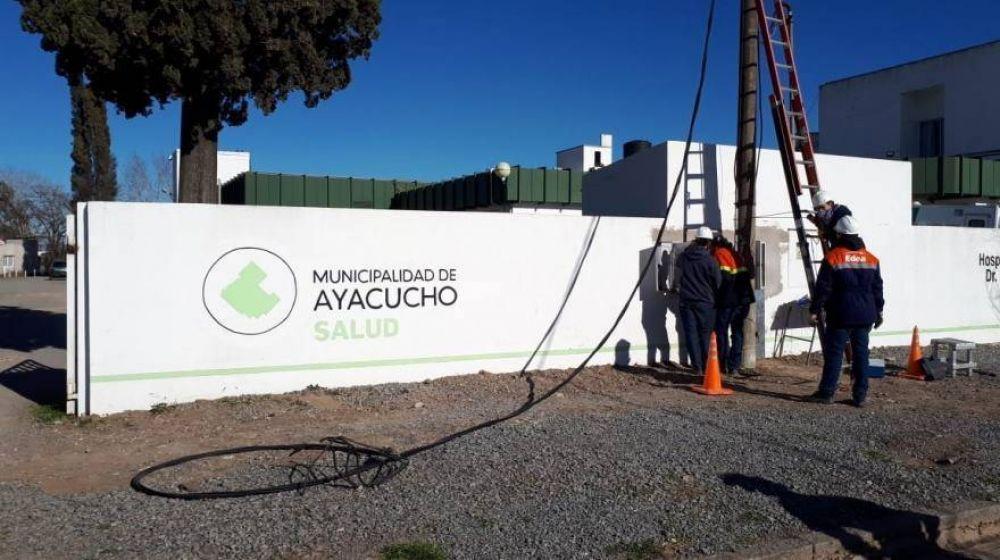 Ayacucho: realizaron mejoras en el suministro de energía para el hospital municipal