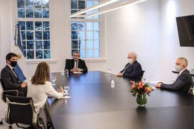 El Presidente recibió a directivos del laboratorio que desarrolla una vacuna junto a Oxford