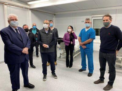 Katopodis y Ginés González García pusieron en marcha el Hospital Modular de Tres de Febrero