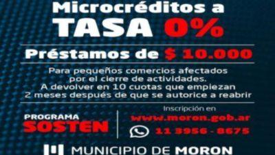 Morón lanza créditos a tasa cero para comercios barriales y sectores afectados por la pandemia
