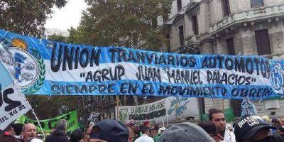 La Agrupación Juan Manuel Palacios, opositora a la conducción de la UTA, marcha este viernes en defensa de los derechos de los choferes