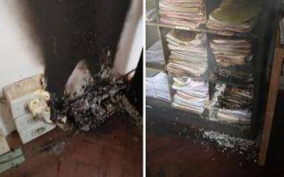 La Plata: Principio de incendio en sala de Casación bonaerense destruyó expedientes