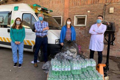 Comercios y empresas de Tres de Febrero envían donaciones para los vecinos