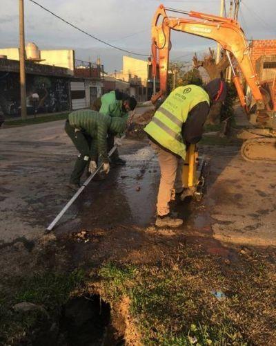 Se realizaron tareas de saneamiento hídrico e de higiene urbana