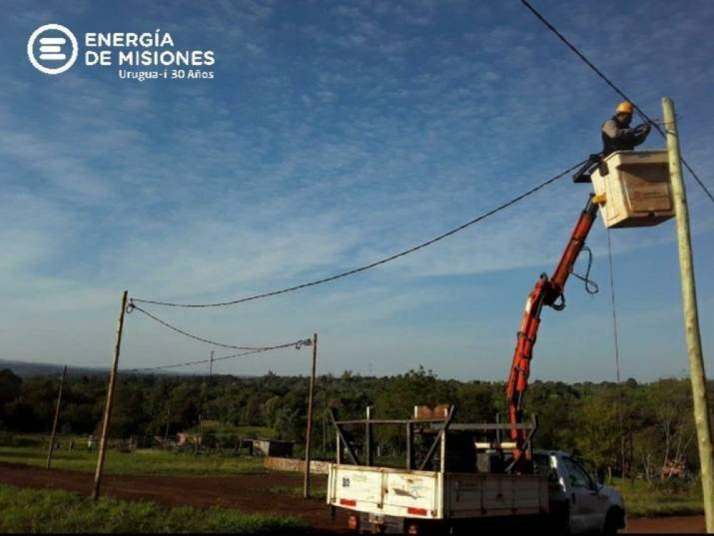 Energía de Misiones desarrolla distintas obras en el Barrio 7 Hectáreas del municipio de Garupá