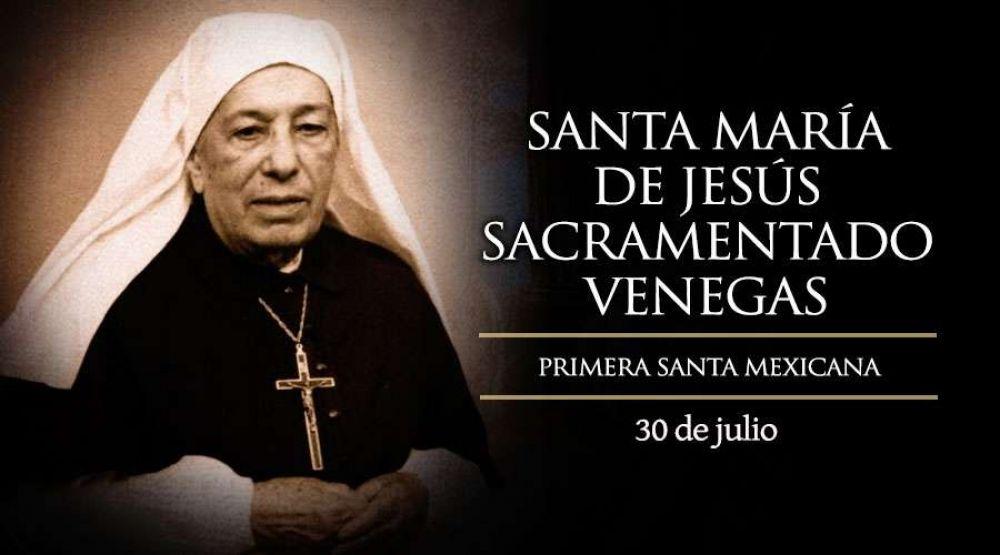 Hoy es la fiesta de la santa mexicana María de Jesús Sacramentado