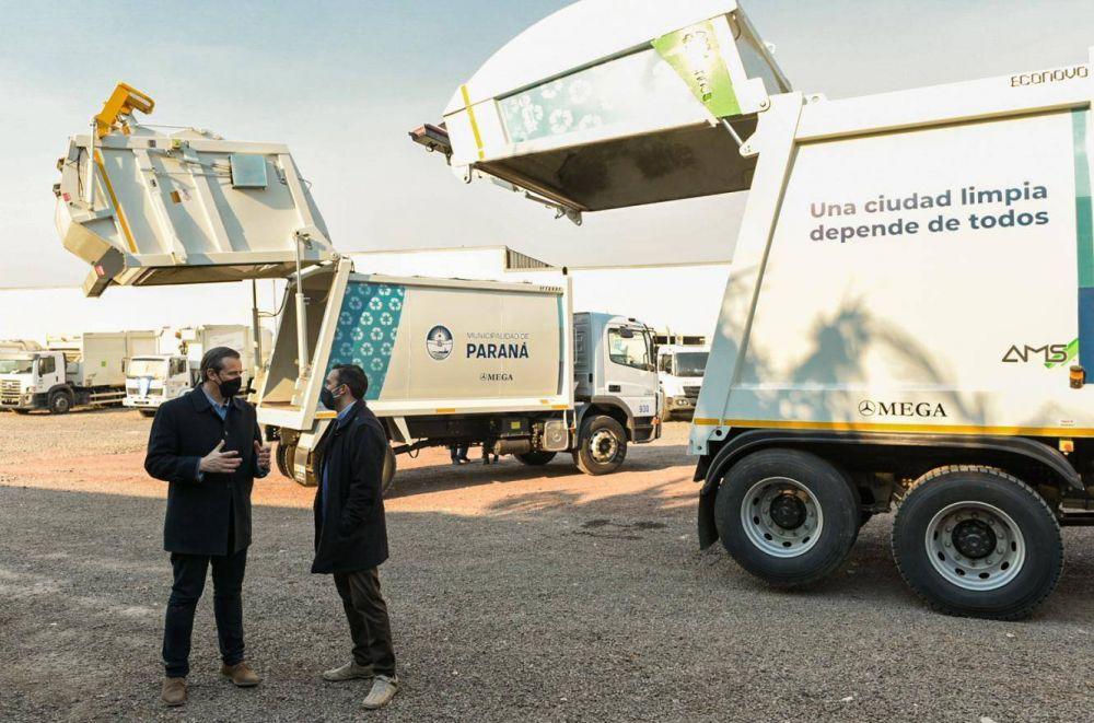Bahl presentó el nuevo sistema de recolección de residuos sólidos urbanos