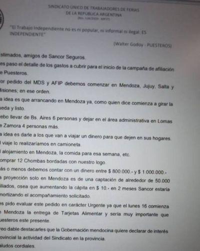 Gremio amarillo le pide un millón de pesos a una aseguradora y le promete, a cambio, un negocio multimillonario