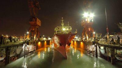 SPI Astilleros realizó la botadura de dos buques poteros