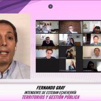 Fernando Gray participó de foro virtual sobre territorios y gestión pública