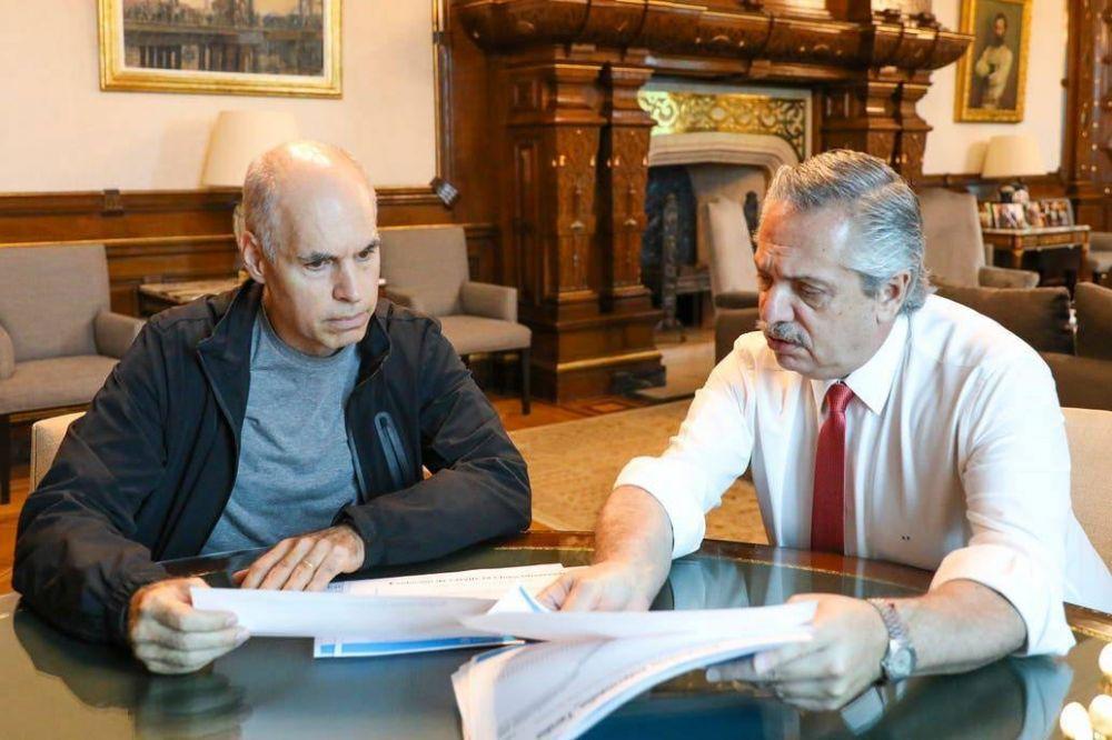 Coronavirus en la Argentina: Alberto Fernández recibe a Horacio Rodríguez Larreta, que busca habilitar deportes y bares y restaurantes el aire libre