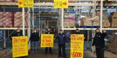 """Jerárquicos de Comercio continúa la lucha por el bono en Carrefour: """"Esperemos que se pague dentro del mes, sino a más tardar en septiembre"""""""