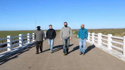 General Madariaga: reinauguraron el puente de arroyo chico