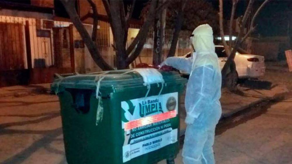 El municipio bandeño ejecutó un plan para tratar los residuos de pacientes aislados por Covid-19