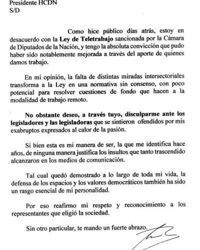 Mario Pergolini pidió disculpas por las duras críticas a los legisladores que votaron la Ley de Teletrabajo