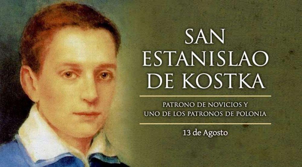 Hoy es la fiesta de San Estanislao Kostka, patrono de los novicios y de Polonia