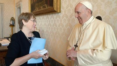 Reunión del Papa y Bachelet sobre la pandemia y América Latina