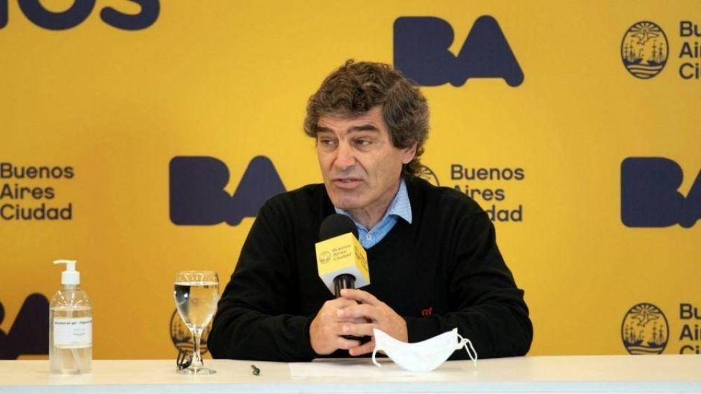 Quirós dice que la Ciudad registra un descenso de casos y que el índice R está debajo de 1