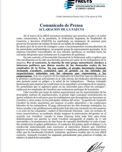 """""""La marcha de este grupo minoritario obedece a intereses políticos"""", manifestó Armando Cavalieri"""