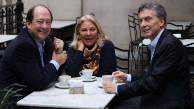 En plena convulsión, Macri, Carrió y Sanz levantan el perfil