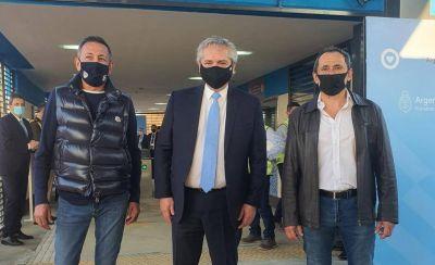 Fernández metió otra foto de alto voltaje sindical con Sasia y Maturano