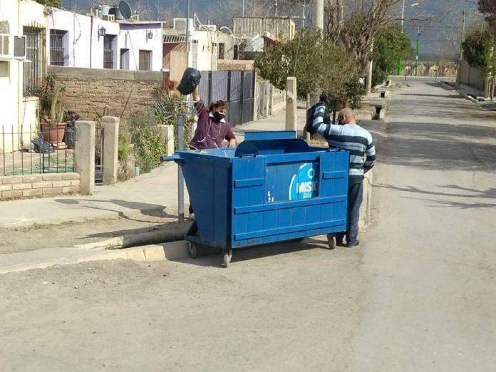 Disponen de contenedores especiales para recolección de residuos en la zona aislada de la Rinconada
