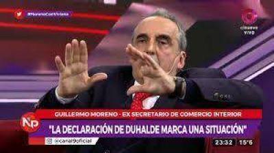 Guillermo Moreno no avista un golpe, pero sí un