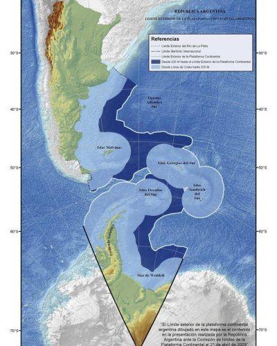 Malvinas: el Gobierno habilitará licitaciones petroleras en la zona de ampliación de la plataforma submarina para fortalecer su reclamo de soberanía
