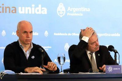 El distanciamiento social entre Fernández y Larreta