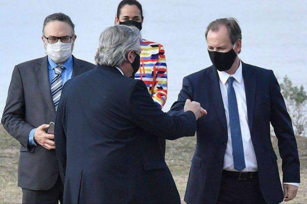 El gobernador de Entre Ríos, Gustavo Bordet, tiene coronavirus: estuvo el viernes con Alberto Fernández