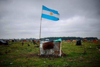 Sin presos: a pesar de la advertencia de Sergio Berni, se consolida la toma de terrenos en Guernica