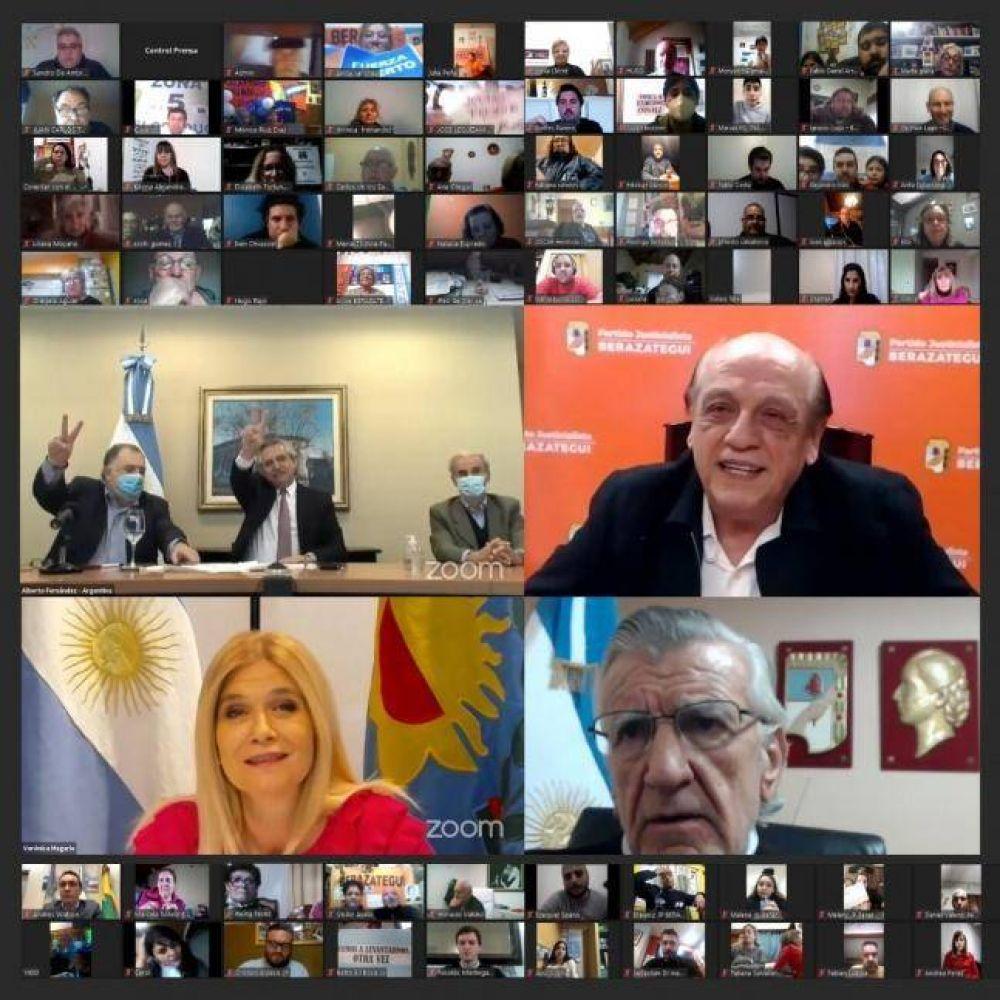 PJ: Nuevo video encuentro de militantes y dirigentes con Fernández