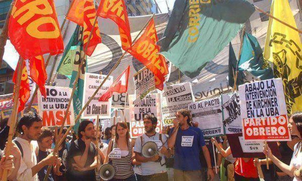 Estudiantes de izquierda: más presencia en piquetes laborales