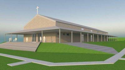 La iglesia en Valle Chico será para más de mil fieles