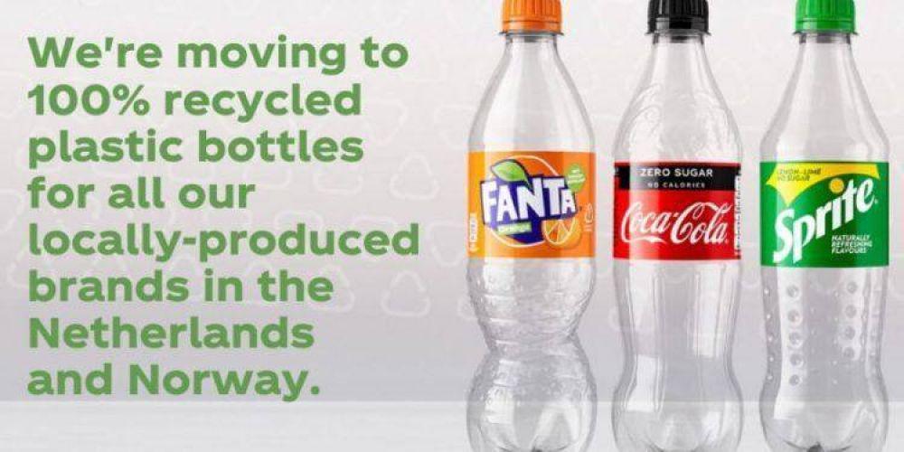 Coca-Cola extiende el uso de botellas de plástico 100% reciclado en Europa