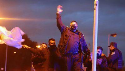 Los policías no habían presentado sus reclamos ante el Ministerio de Trabajo